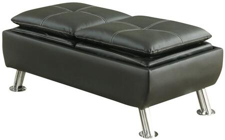 Coaster 300283 Dilleston Series Contemporary Faux Leather Wood Frame Ottoman