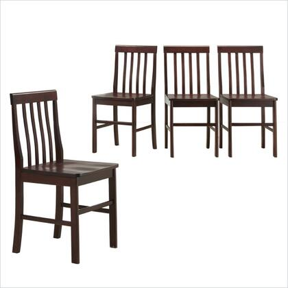 Walker Edison CHWN4ES Princeton Series Contemporary Not Upholstered Wood Frame Dining Room Chair