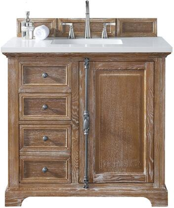 "James Martin Providence Collection 238-105-5511- 36"" Driftwood Single Vanity with Plantation Style Hardware, One Soft Close Door, Two Soft Close Drawers and"
