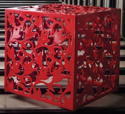 Modloft BCO196PV Foley Series Accent Armless Metal Bench