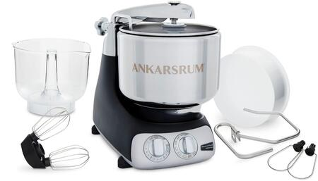 Ankarsrum AKM6230x Ankarsrum Original Mixer with 7 Liter Stainless Steel Bowl, 3.5 L Double Whisk Bowl, Dough Hook, Roller, Scraper, Spatula, Dust Cover, Cookie Beaters and Removable Power Cord, in