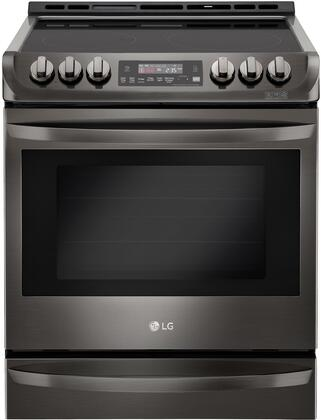 "LG LSE4613x 30"" Slide-In Electric Range With 5 Smoothtop Elements, 6.3 cu. ft. ProBake Convection Oven"