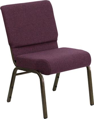 """Flash Furniture HERCULES Series FD-CH0221-4-GV-XX-GG 19"""" Extra Wide Stacking Church Chair with 4"""" Thick Seat, Gold Vein Frame, Plastic Rocker Glides, Book Pouch on Back, and 16 Gauge Steel Frame"""