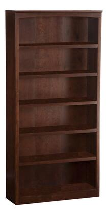 Atlantic Furniture H80064  Wood 5 Shelves Bookcase