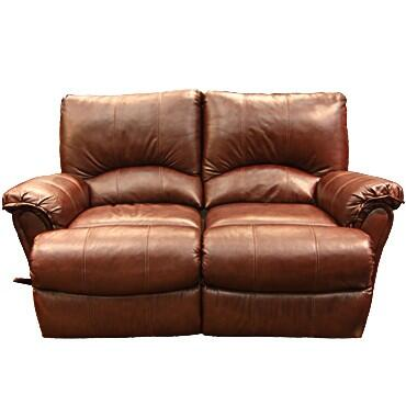 Lane Furniture 20424174597517 Alpine Series Leather Reclining with Wood Frame Loveseat