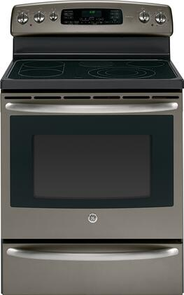 GE JB710EDES  Freestanding Range with Smoothtop Cooktop, 5.3 cu. ft. Primary Oven Capacity, Warming in Slate
