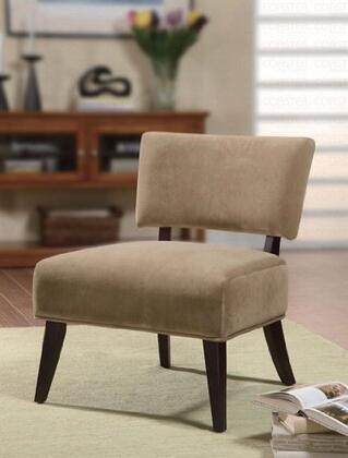 Coaster 460508 Armless Microfiber Wood Frame Accent Chair