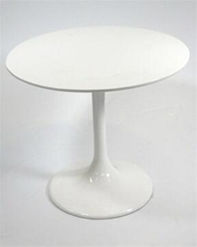 Fine Mod Imports FMI1207WHITE Flower Series modern/contemporary Round End Table