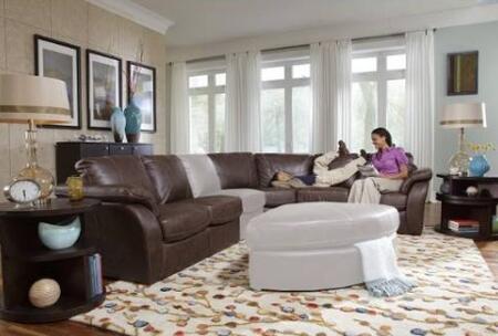 Novo Home 20423PC Venice Series Stationary Leather Sofa