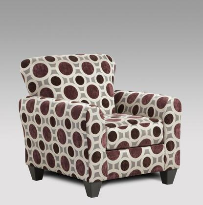 Chelsea Home Furniture 199001W Worcester Accent Chair with 16 Gauge Wire, Sinuous Springs, Hi-Density Foam Core Cushions and Kiln Dried Hardwood Frames in
