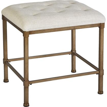 Hillsdale Furniture 50961 Katherine Series Accent Armless Metal Fabric Bench