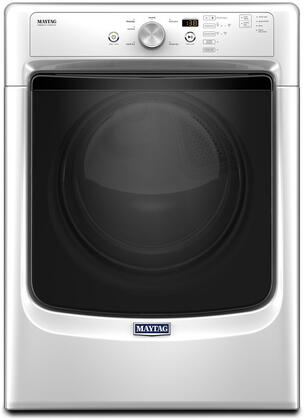 "Maytag MxD3500FW 27"" ADA Compliant Dryer with 7.4 cu. ft. Capacity, PowerDry System, Wrinkle Prevent Option, Sanitize Cycle and Rapid Dry Cycle: White"