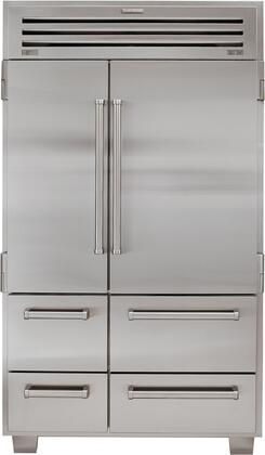 "Sub-Zero 648PROX 48"" Built In Side by Side PRO 48 Refrigerator with 30.2 cu. ft. Total Capacity, 8 Shelves, Automatic Ice Maker, and Dual Refrigeration: Stainless Steel"