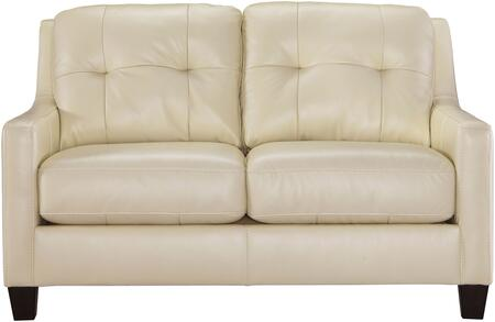 "Milo Italia Regina MI-5733CTMP 60"" Stationary Loveseat with Leather Match Upholstery, Tufted Back Cushions and Loose Seat Cushions in"