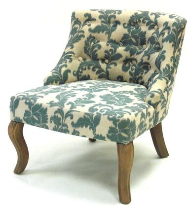 Armen Living LC3117CLGR Stationary Fabric Wood Frame Accent Chair