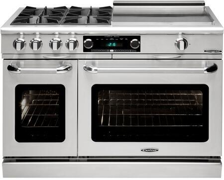 Capital cob484ggn 48 inch connoisseurian series dual fuel - Capital kitchen appliances ...
