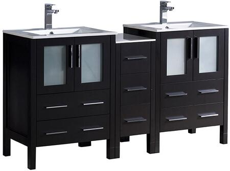 "Fresca FCB62241224XXX Torino 60"" Double Vanity with X Sink in"