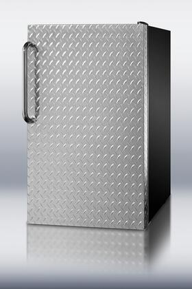 Summit CM421BLXDPLADA  Stainless Steel Compact Refrigerator with 4.1 cu. ft. Capacity