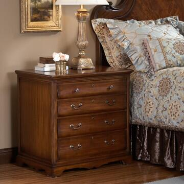 Ambella 12513230001 Kendall Series Rectangular Wood Night Stand