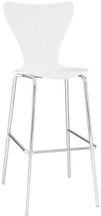 Modway EEI538WHI Ernie Series Residential Not Upholstered Bar Stool