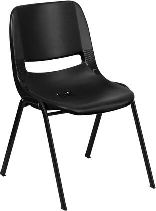 """Flash Furniture Hercules Collection 22"""" Stack Chair with Support Rails, Drain Holes, Non-Marring Plastic Floor Glides, Chrome Frame, Plastic Seat and Back in"""