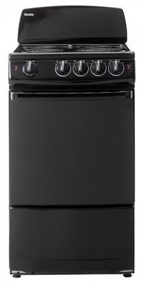 """Danby DER200x 20"""" Electric Coil Range with 2.4 cu. ft. Oven Capacity, 4 Coil Elements, Porcelain Cooktop Surface, 2 Oven Racks and Hot Surface Indicator Light, in"""