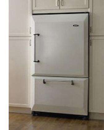 AGA AFHR36CBL Legacy Series Counter Depth Bottom Freezer Refrigerator with 20 cu. ft. Total Capacity 5.5 cu. ft. Freezer Capacity 4 Glass Shelves