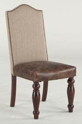 Home Trends & Design ZWEI63TLDL Emilia Series Casual Leather Wood Frame Dining Room Chair