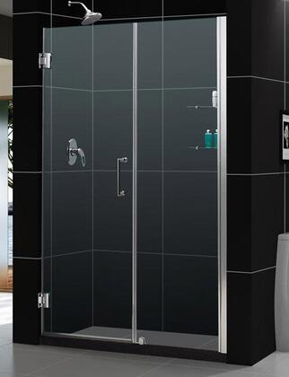 DreamLine SHDR-20597210S Unidoor Frameless Hinged Shower Door With Reversible For Right Or Left Door Opening, Self-Closing Solid Brass Wall Mounted Hinges (5 Degree Offset) & In