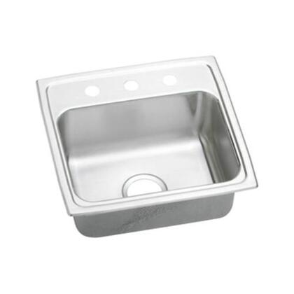 """Elkay LRAD1918600 19"""" Top Mount Self-Rim Single Bowl 18-Gauge ADA Compliant Stainless Steel Sink"""