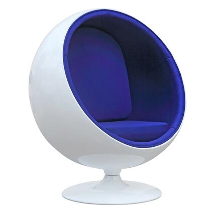 Fine Mod Imports FMI1150BLUE Ball Series Lounge/Armchair Fabric: 100% Wool Fiberglass Frame Accent Chair
