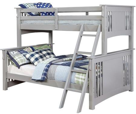 Furniture of America CMBK602FGYBED Spring Creek Series  Twin over Full Size Bunk Bed