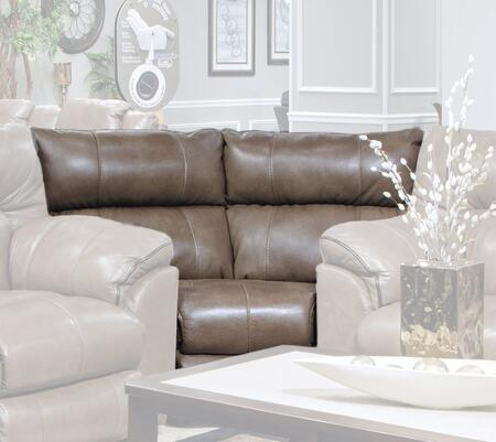 Catnapper 4348128318308318128309 Milan Series Leather Sectional with Metal Frame in Smoke