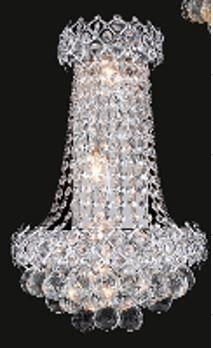 "J & P Crystal Lighting Firework Collection SP99005W 12"" Wide Wall Light in X Finish"