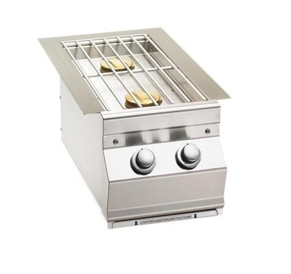 Built In Double Side Burner, Simple Knob Control, for Aurora Grills