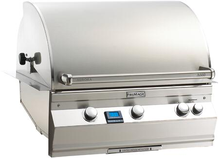 "FireMagic A660I6L1X Aurora 36.5"" Built-In Grill with E-Burners, Back Burner, One Infrared Burner, and Digital Thermometer"