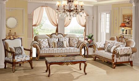 Meridian 6513PCSTLARMKIT1 Camelia Living Room Sets