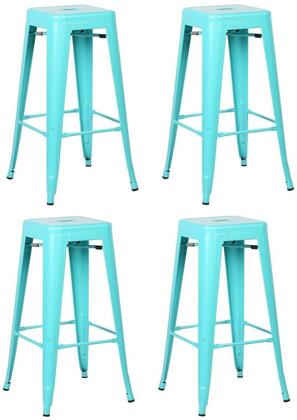 EdgeMod EM126AQUX4 Trattoria Series Commercial Not Upholstered Bar Stool