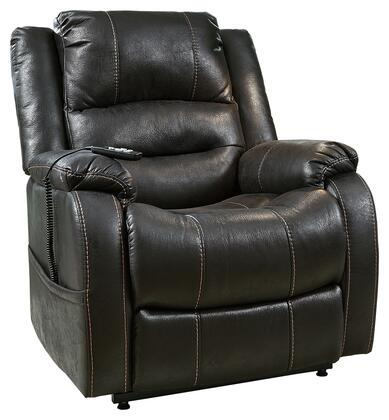 Milo Italia MI703758BLK Terrell Series Contemporary Faux Leather Wood Frame  Recliners