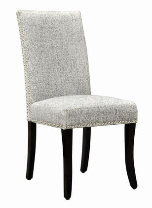 Armen Living LCDESIX Accent Nail Side Chairs with 1.8 Density Fire Retardant Foam and Fabric Upholstery in