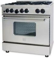 "BlueStar RCS36IRV1NG 36"" Gas Freestanding Range with Open Burner Cooktop, 5.0 cu. ft. Primary Oven Capacity, in Stainless Steel"