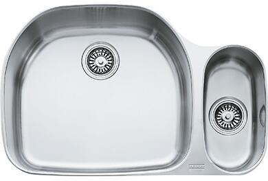 "Franke PCX1600 Prestige Classic 31"" Undermount Double Bowl Sink in Stainless Steel"
