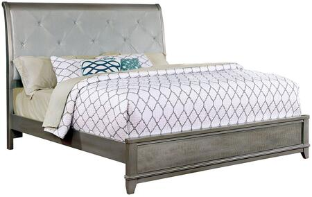 Furniture of America CM7289SVEKBED Bryant II Series  Eastern King Size Bed