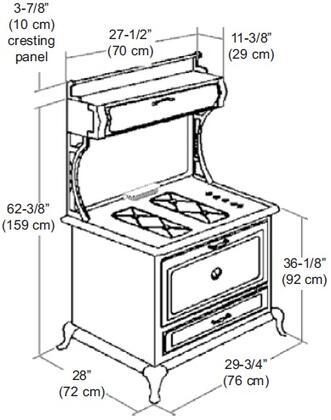 Heartland 920000gcbl Classic Series 30 Inch Gas Freestanding Range