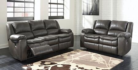 Milo Italia MI6165SET2PCGRY Luciano Living Room Sets