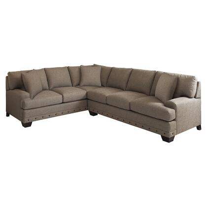 Bassett Furniture Carmine Collection 3917-LRSECTFC/FC156-X L-Shaped Sectional Sofa with Left Arm Facing Sectional with Corner and Right Arm Facing Sectional without Corner in