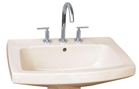 "Barclay B/3-978 Galaxy 28"" Basin Only, with 8"" Widespread, Overflow, 8"" Basin Depth, and Vitreous China Construction"