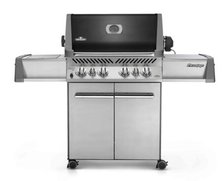 Napoleon P500RSIBXK-A Prestige  Grill with Up to 78,500 BTUs, 4 Burners, 760 Sq. In. Cooking Area, LIFT EASE, Rotisserie Kit and Infrared SIZZLE ZONE Side Burner in Black