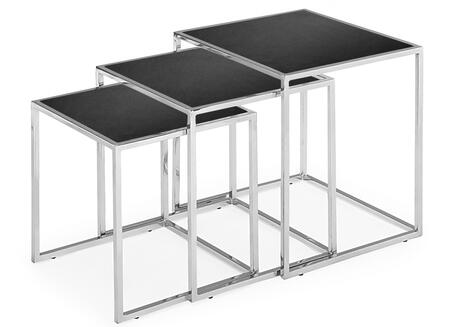 Zuo 40110 Pasos Collection Nesting Table with X Glass