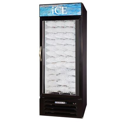 "Beverage-Air MMF27 MarketMax 30"" One Section Glass Door Reach-In Ice Merchandiser Freezer with LED Lighting, 27 cu.ft. Capacity, [Color] Exterior and Bottom Mounted Compressor"